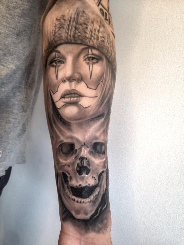 Clown girl chicano healed up by tattoo mini for Chicano clown girl tattoos