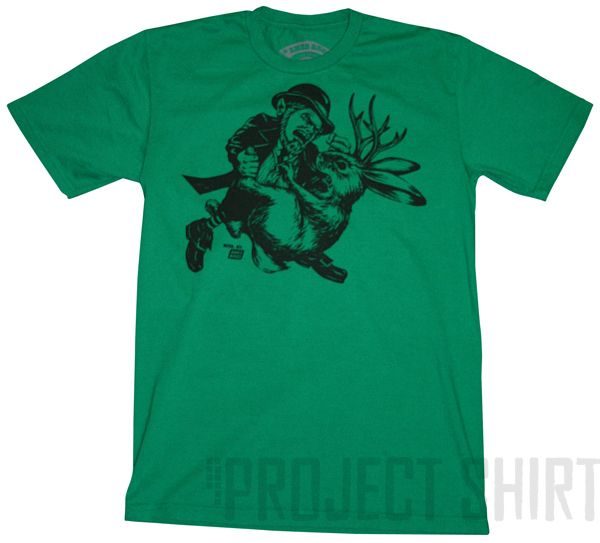 Project Shirt - Ames Bros Leprechaun vs Jackalope Graphic T-Shirt, $25.99 (http://www.projectshirt.com/ames-bros-leprechaun-vs-jackalope-graphic-t-shirt/)