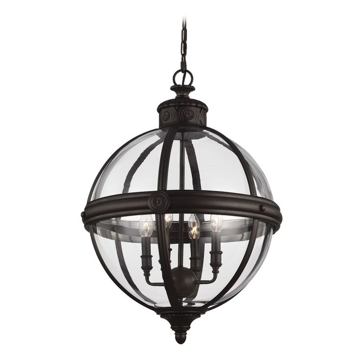 feiss lighting adams oil rubbed bronze pendant light with globe shade