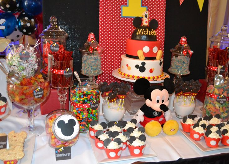 birthday candy candy table mickey mouse angels