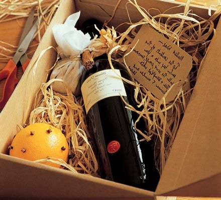 A lovely homemade gift for wine lovers