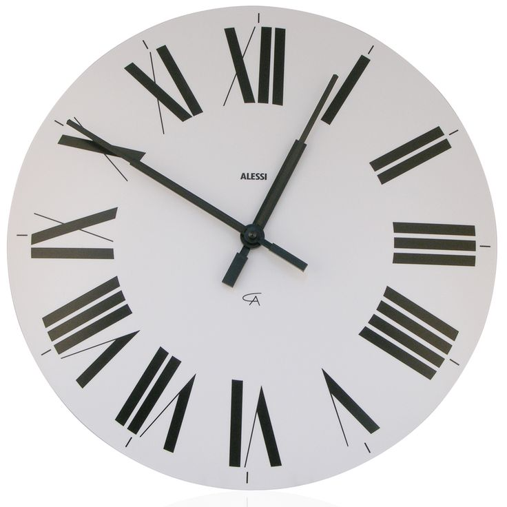 Alessi - Firenze White Wall Clock | Peter's of Kensington