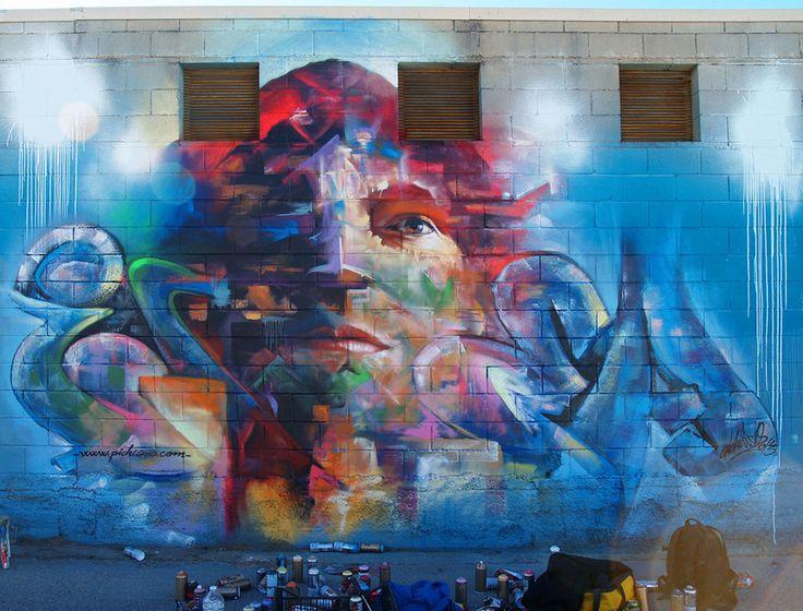 Best Street ArtistPichiAvo Images On Pinterest Street - Beautiful giant murals greek gods pichi avo