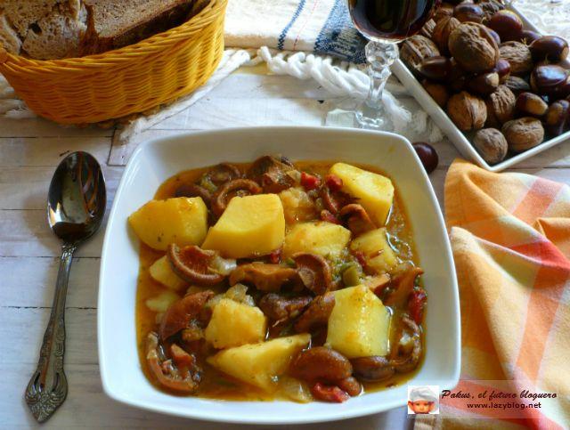 patatas con níscalos
