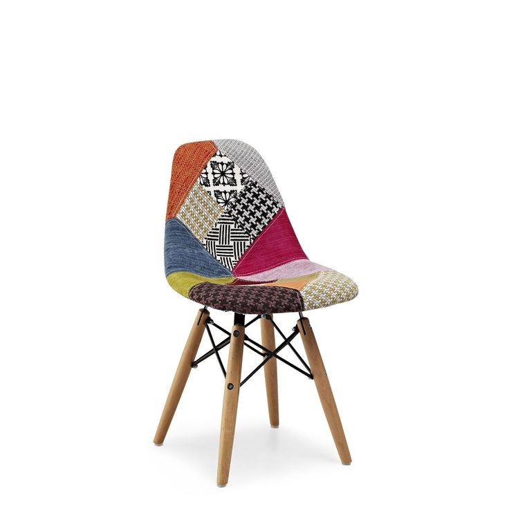 Patchwork charles ray eames and b b on pinterest for Chaise eams patchwork