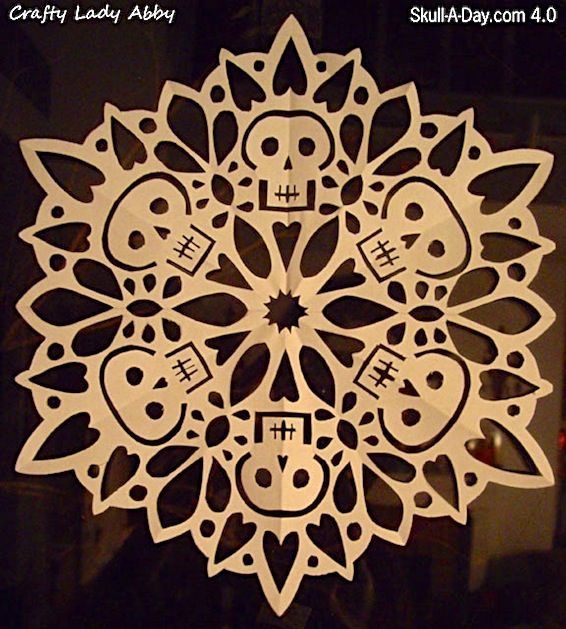skull paper snowflakes
