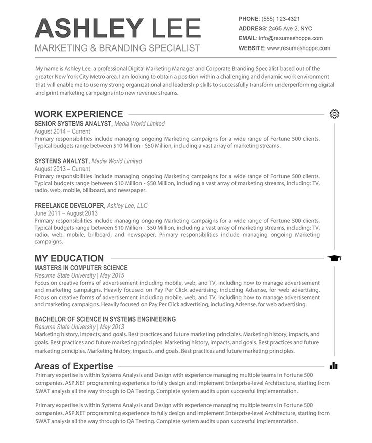 examples resumes resume example collage application template best - digital marketing resume