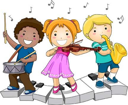 children playing musical instruments clipart - Hľadať Googlom ...