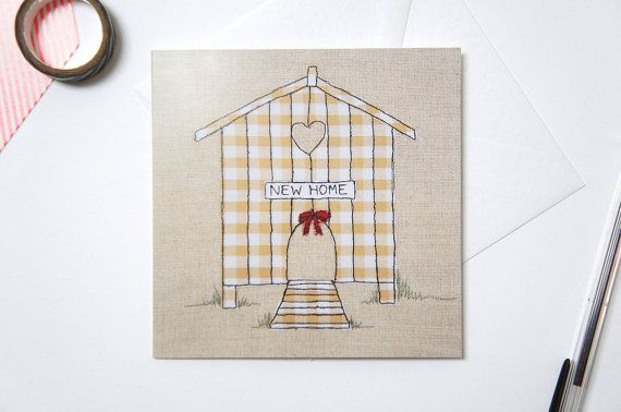 New Home Printed Card  New Home Chicken Hut Greetings Card
