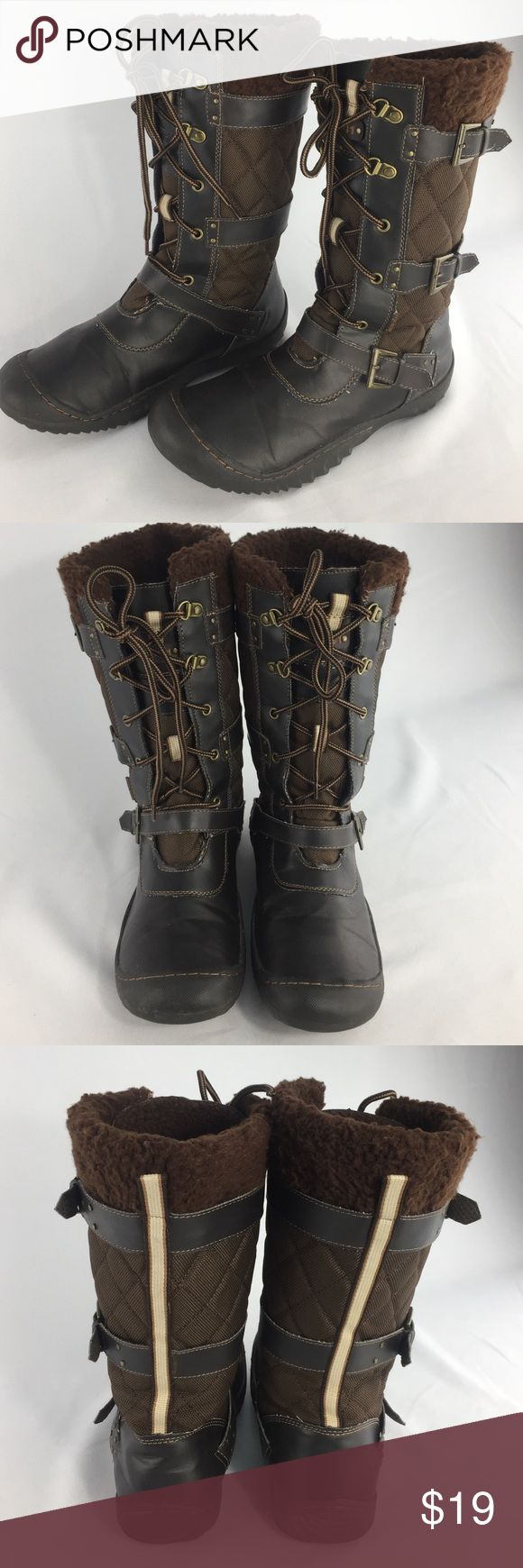 JEEP Engineered Traction Boots! JEEP Engineered Traction Boots! Style J-41. Vegan leather lace up boots. size 9m. Jeep Shoes Winter & Rain Boots