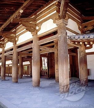 Horyuji Temple, containing the world´s oldest wooden structures, UNESCO World Heritage Site, Nara, Japan