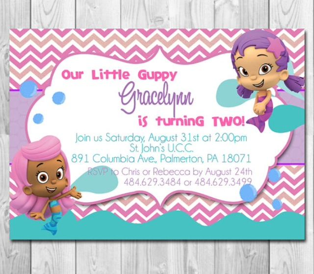 45 best bubble guppies invitations images on pinterest | bubble, Party invitations