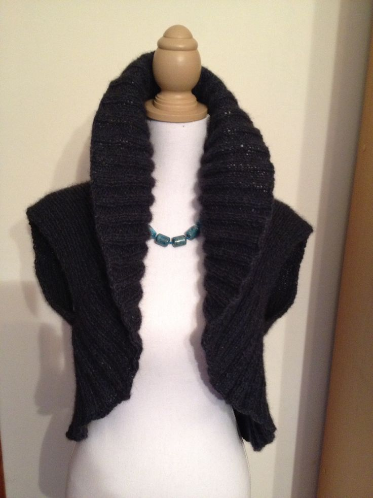 Another endless circle vest - done in merino possum