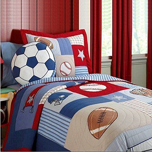 Best Quilt Sets Images On Pinterest Quilt Sets Bedding Sets - Boys sports bedding sets twin