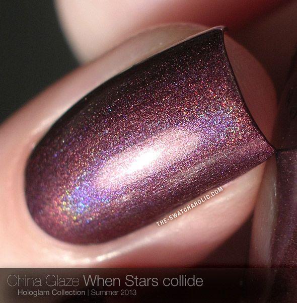 China Glaze Hologlam Wenn Sterne zusammenstoßen stoffmuster holographische holo prismatische