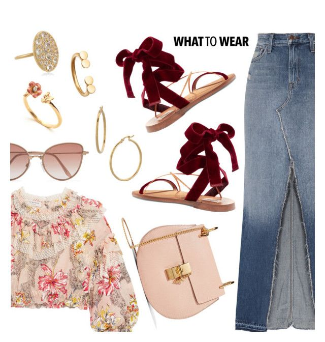 """""""What to Wear"""" by dressedbyrose ❤ liked on Polyvore featuring J Brand, Philosophy di Lorenzo Serafini, Valentino, Chloé, Cutler and Gross, Bony Levy, Elizabeth and James, Astley Clarke, ootd and WhatToWear"""
