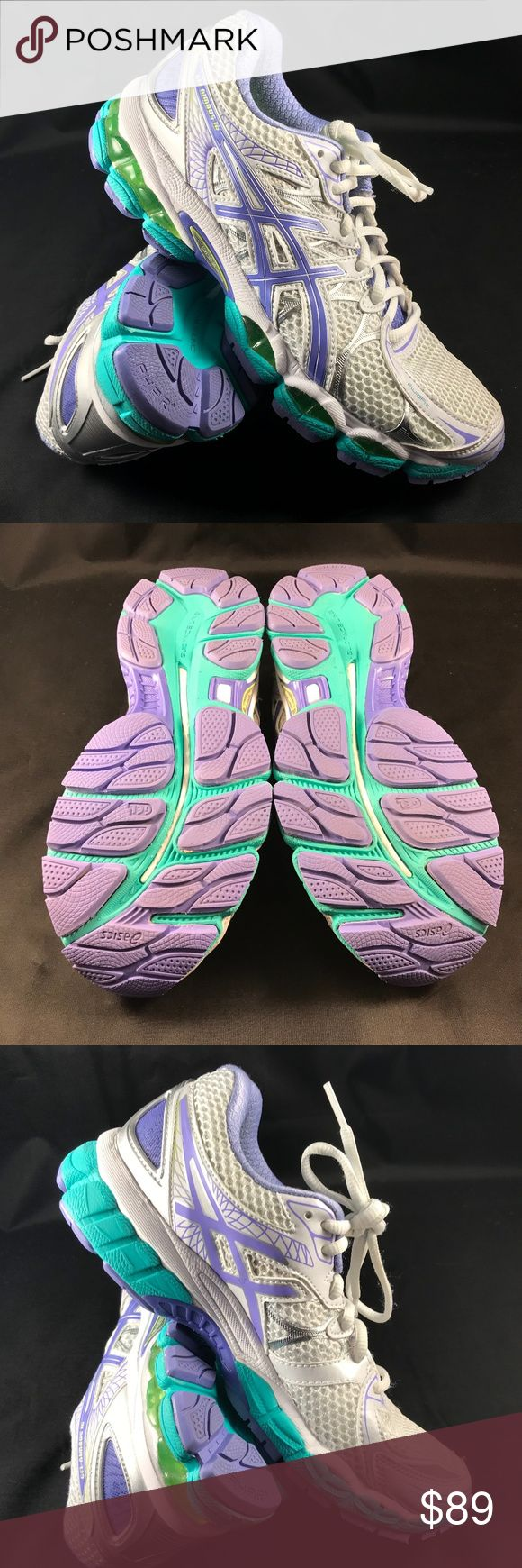 MINT ASICS GEL NIMBUS 16 womens sz 8 MED These pass for NEW without Box but they were tried on indoors on a treadmill once for 20-30 minutes. Size 8 Retail $150 ASICS Shoes Athletic Shoes