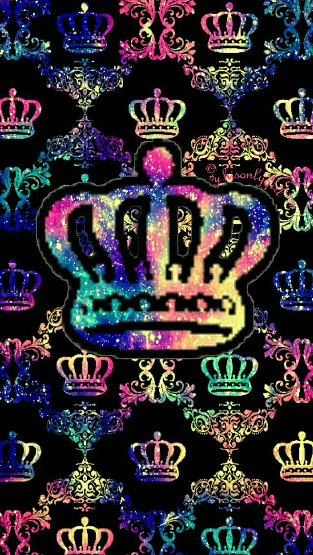 Crown damask galaxy iPhone & Android wallpaper I created for the app CocoPPa. | Fondos ...