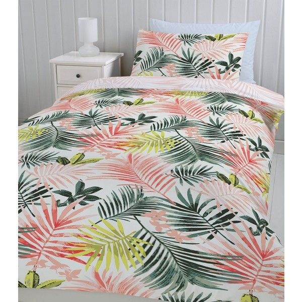 Multi Coloured Leaf Printed Single Duvet Set 20 Liked On Polyvore Featuring Home Bed Bath Bedding Duvet Covers Duvet Sets Single Duvet Colorful Duvet