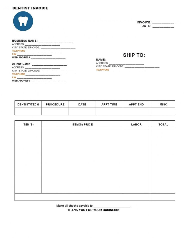 Browse Our Image Of Dentist Bill Template Bill Template Invoice Template Templates