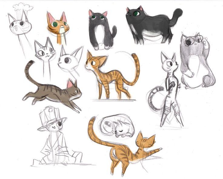 17 Best Images About Kattetegninger On Pinterest Cats