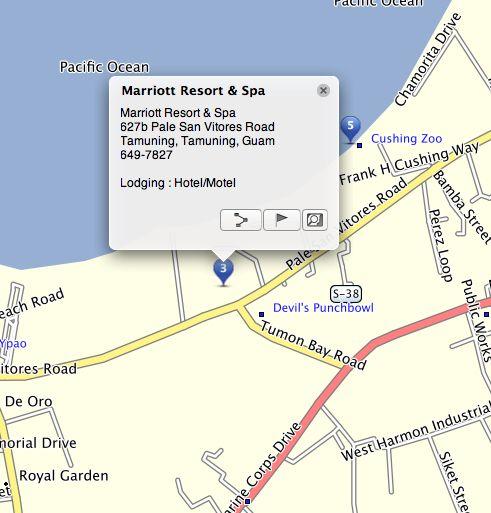 marriot guam resort directions guam http www gpsetravelguides com page