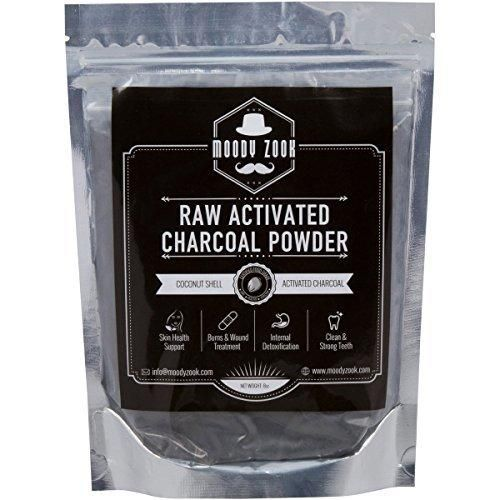 Activated Charcoal Powder by Moody Zook - Premium Food Grade Raw Organic Coconut Carbon Bulk - More Effective than Hardwood Charcoal - Natural Teeth Whitening Detox Digestion Skin Care Anti Aging
