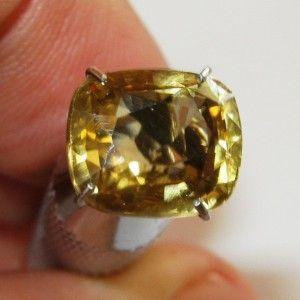 Cushion Zircon Yellowish Orange 3.52 carat