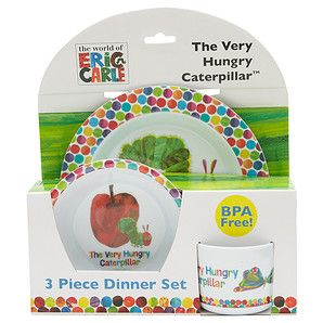 The Very Hungry Caterpillar 3 Piece Dinner Set