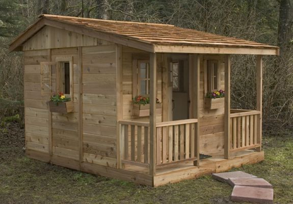 outside playhouses for little girls | Found on outdoorlivingtoday.com