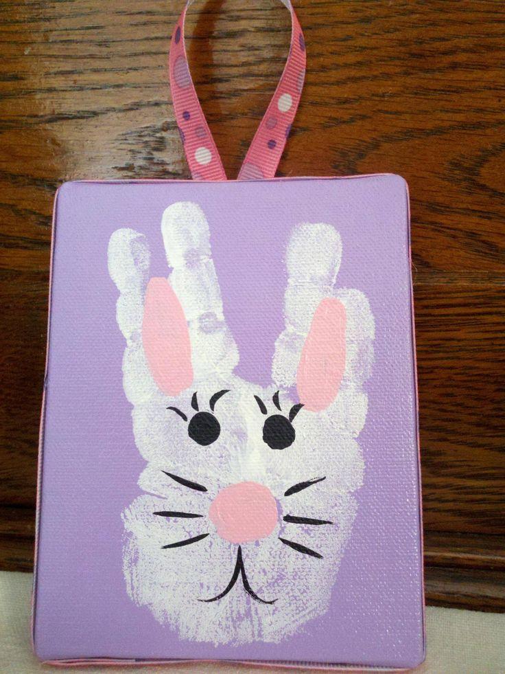 Hand Print Easter Art