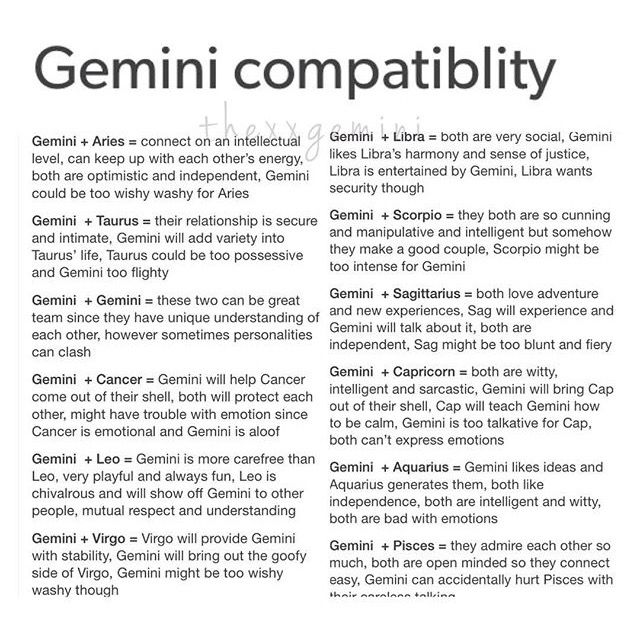 Dating gemini female