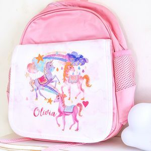 Personalised School Bag 'Unicorn' - special gifts for the little ones who deserve a present that will get them grinning from ear to ear. Whether it's for their Birthday or Christmas, these gifts are sure to delight.