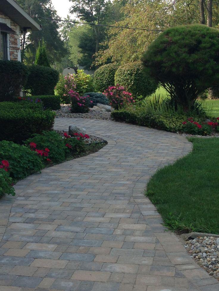 Paver Walkway J Amp N Stone Landscape Pinterest Walkways