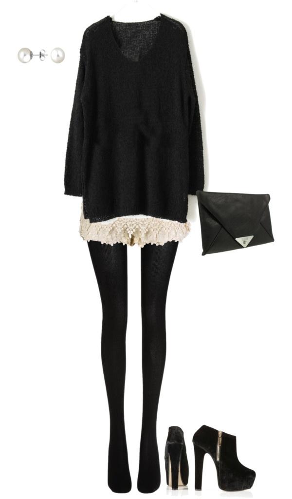 Best 25+ Shorts tights ideas on Pinterest | Black shorts fashion Black tights and Minimal chic