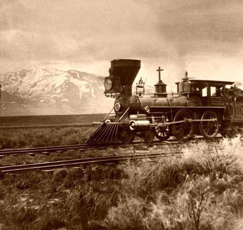 Central Pacific Railroad near Salt Lake City, Utah around 1869