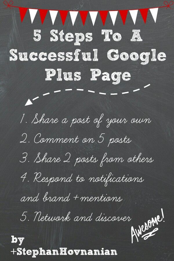 5 steps to a successful Google Plus page