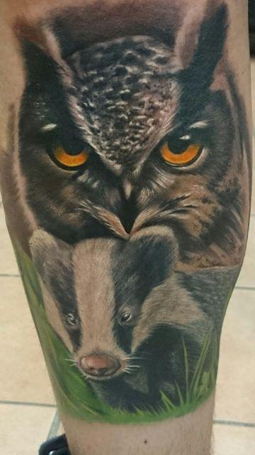 Tattoo-Foto: Predatoren-Unterschenkel