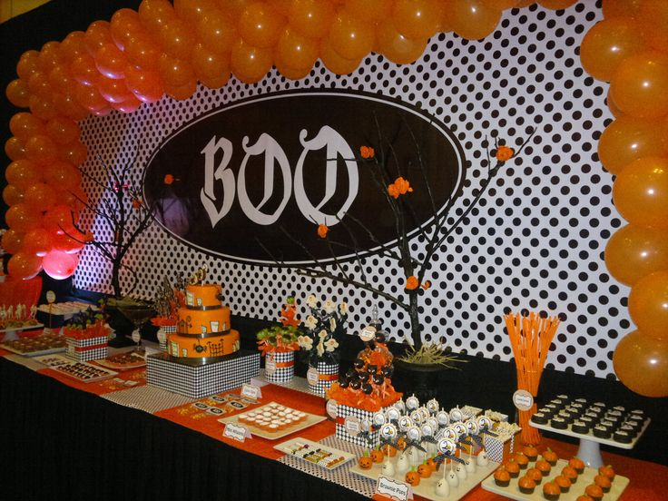 Halloween decoracion halloween cumplea os cumplea os for Decoracion para mesa dulce