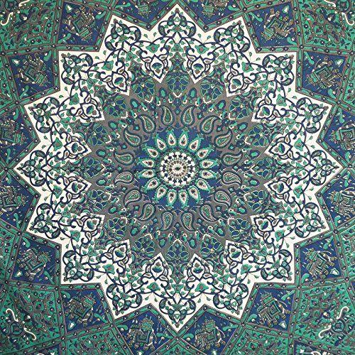 "Handicrunch  Stranddecke Mandala Tapisserie Hippie Bohemian Tapisserien Vollwandkunst Baumwollteppich 92 ""x 82"" Indianbeautifulart http://www.amazon.de/dp/B00OYU28XO/ref=cm_sw_r_pi_dp_srz0vb1RYGTAQ"