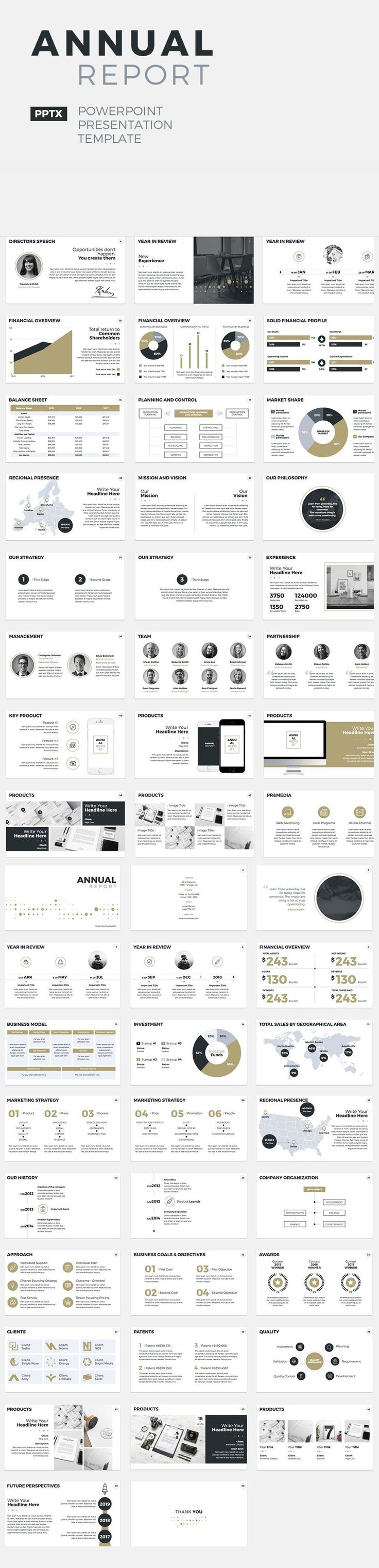 Annual Report - PowerPoint Presentation Template