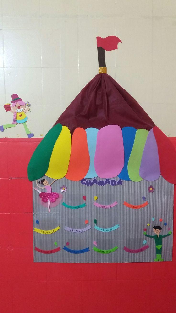 #Chamada #Circo #Alegria #Diversão #Bailarina #Malabarista #Cores #Balão #JardimDeInfância #Palhaça #Colorindo #EVA #Arte #Pedagogia