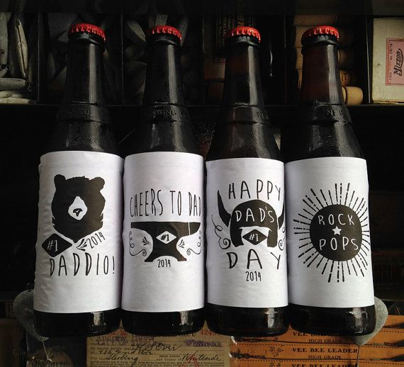 Father's Day Beer Labels Printable Beer by BetweentheLinesInc