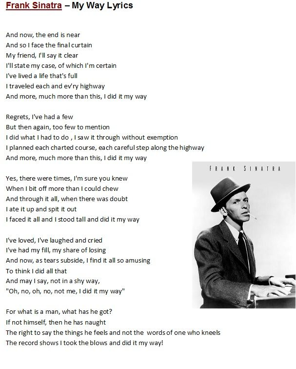 12 Best Images About Music For Melodica On Pinterest: Best 25+ Frank Sinatra Lyrics Ideas On Pinterest