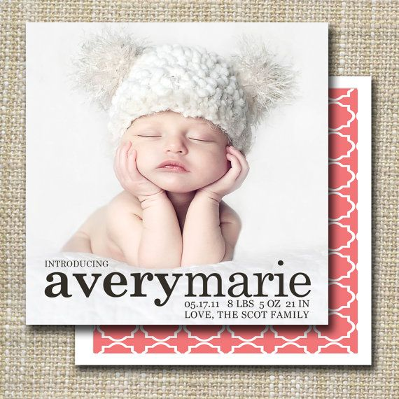 41 best Birth announcements images – Classic Baby Announcements