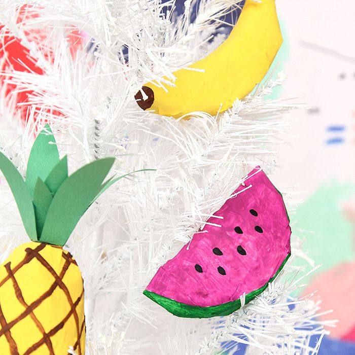 DIY Papier-Mâché Fruit Ornaments