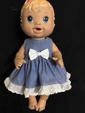 dolls clothes made to fit 32cm Little Baby Alive Dolls (SMALL) Sleeveless Dress