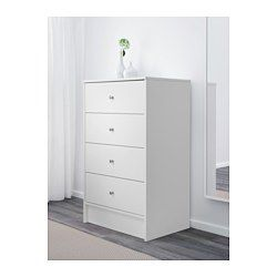 A wide chest of drawers gives you plenty of storage space as well as room for lamps or other items you want to display on top. Smooth running drawer with pull-out stop. Must be secured to the wall. Of course your home should be a safe place for the entire family. That's why hardware is included so that you can attach the chest of drawers to the wall.
