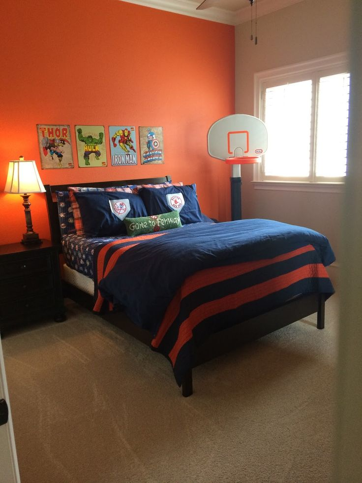 bedroom accent wall sherwin williams knockout orange ideas for him 10271