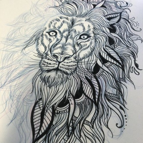 Tumblr Lion Tattoo On Arm photo - 5